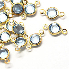 10 December Birthstone Gold Tone Charms - Connector - DBD575