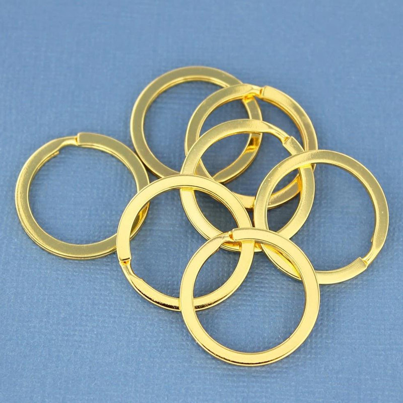 Gold Tone Key Rings - 25mm - 10 Pieces - Z681