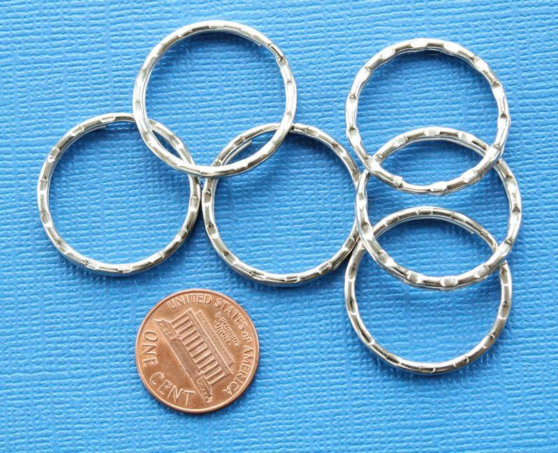 Silver Tone Key Rings - 20mm - 10 Pieces - Z004