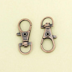 Copper Tone Swivel Lobster Clasps - 35mm x 13mm - 10 Pieces - Z375