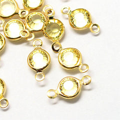 10 November Birthstone Gold Tone Charms - Connector - DBD577