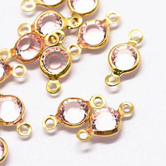 10 October Birthstone Gold Tone Charms - Connector - DBD582
