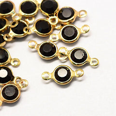 10 December Birthstone Gold Tone Charms - Connector - DBD584
