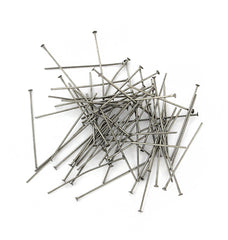 Stainless Steel Flat Head Pins - 30mm - 100 Pieces - PIN063