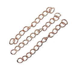 Rose Gold Tone Extender Chains - 50mm x 4.0mm - 12 Pieces - N351