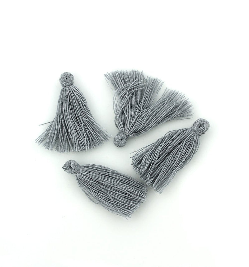 Polyester Tassels - Grey - 12 Pieces - Z695