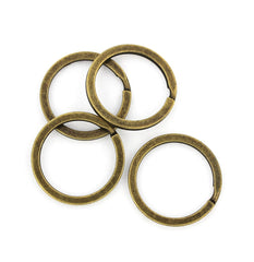 Bronze Tone Key Rings - 28mm - 15 Pieces - Z685