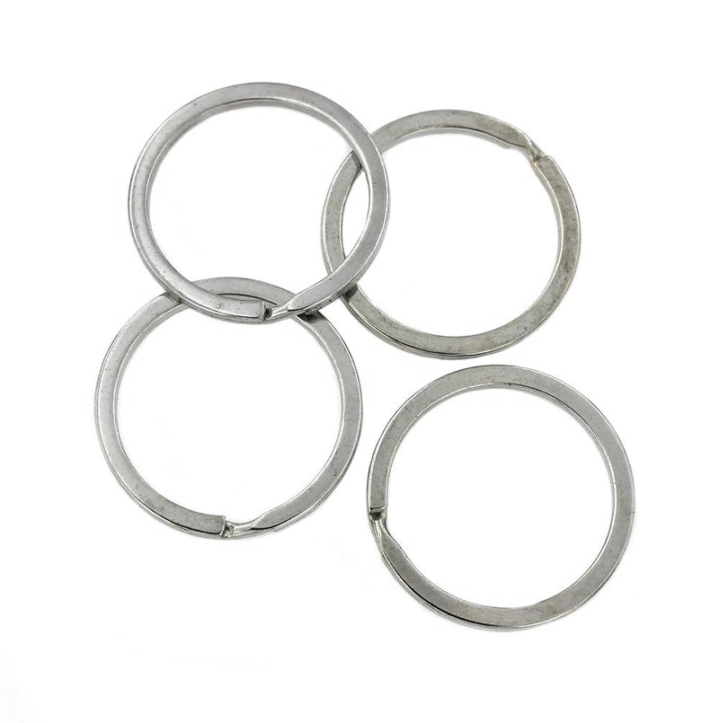 Silver Tone Key Rings - 32mm - 15 Pieces - Z690