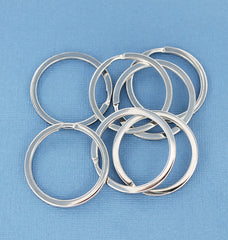 Silver Tone Key Rings - 35mm - 15 Pieces - Z694