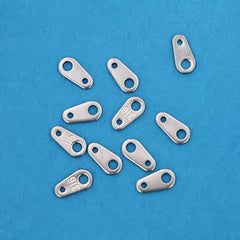 Stainless Steel Chain Drops - 7.5mm x 4mm - 15 Pieces - FD156