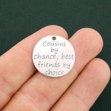 2 Cousin Charms Antique Silver Tone SC5561 Cousins by chance