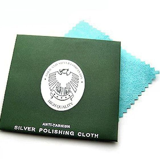 2 Silver Cleaning Cloths Keeps Your Silver Creations Tarnish Free - Z043