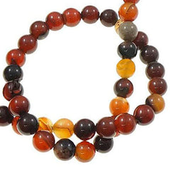 Round Natural Agate Beads 10mm - Autumn Colors - 20 Beads - BD650