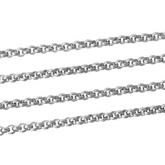 BULK Stainless Steel Rolo Chain 3Ft - 2.3mm - FD292