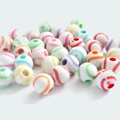 approximately 150 beads BD050 Bead Grab Bag mixed color acrylic beads