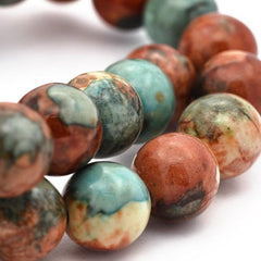 Round Synthetic Jade Beads 6mm - Southwestern - 25 Beads - BD940