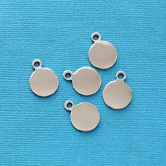 Circle Stamping Blanks - Stainless Steel - 13mm x 17.6mm - 25 Tags - MT245