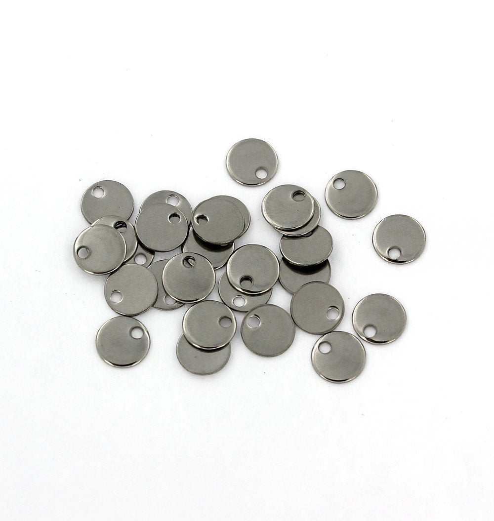 MT288 10 Stainless Steel Moon Pendants Stamping Tags