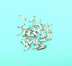 Stainless Steel Chain Drop Tabs - 10mm x 3mm - 25 Pieces - FD522