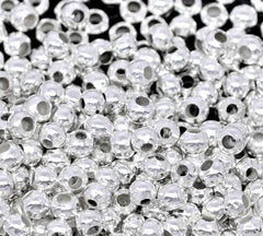 Silver Tone Crimp Beads - 2mm - 250 Pieces - FD050
