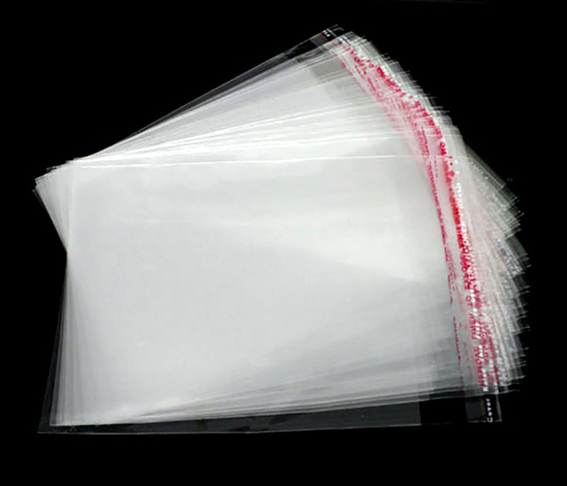 BULK 200 Cellophane Bags 120mm x 90mm Self Adhesive Seal - Z060