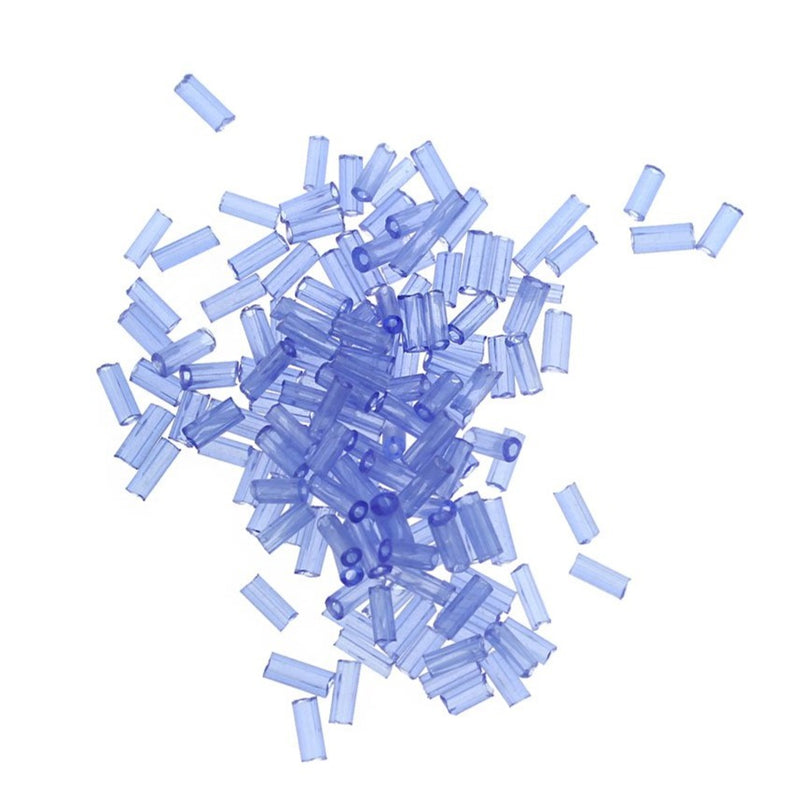 Seed Glass Beads 4-5mm x 1-2mm - Blue - 50g 1700 Beads - BD1585