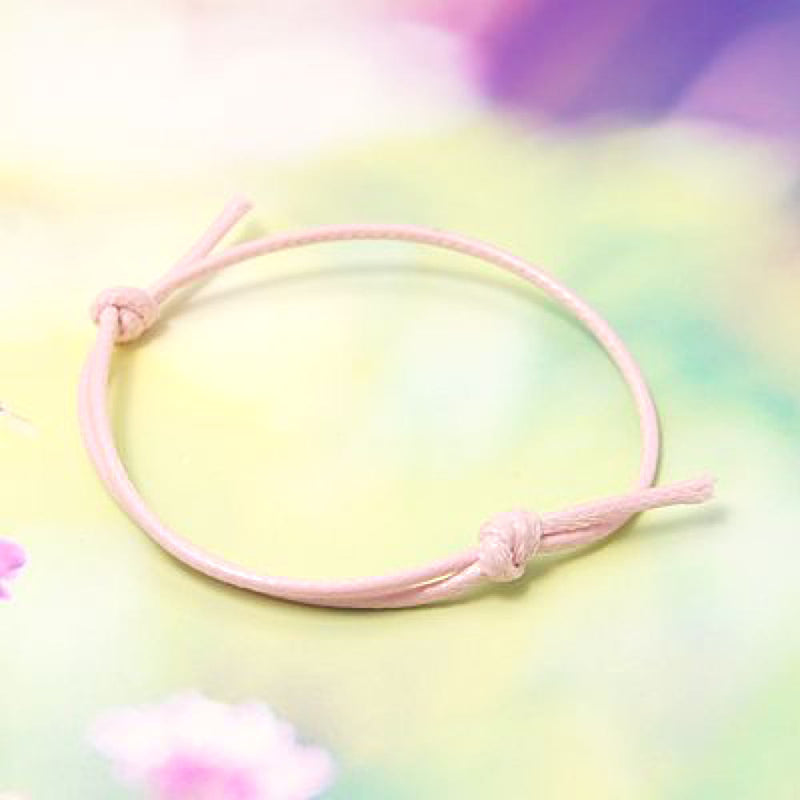 Pink Wax Cord Adjustable Bracelet - 40-80mm ID - 1.5mm - 4 Bracelets - N090