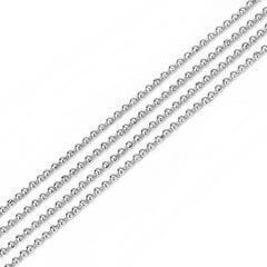 BULK Silver Tone Ball Chain 32Ft - 1.5mm - FD644