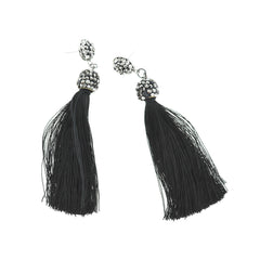 2 Tassel Earrings - Stud Base Style - 1 Pair - Z1206