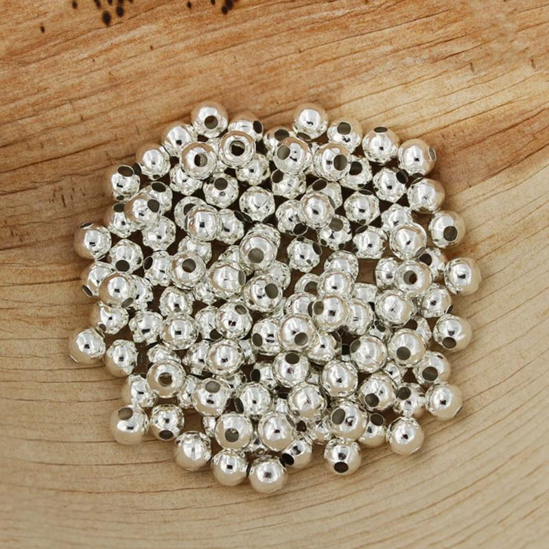 Spacer Metal Beads 5mm x 5mm - Silver Tone - 250 Beads - FD485