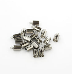 Stainless Steel Cord End - 11mm x 5.5mm - 50 Pieces - FD125