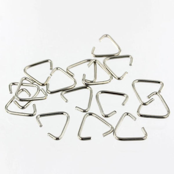Jewellery Craft Design Silver Plated Triangle Pinch Jump Ring Bails 7mm Findings