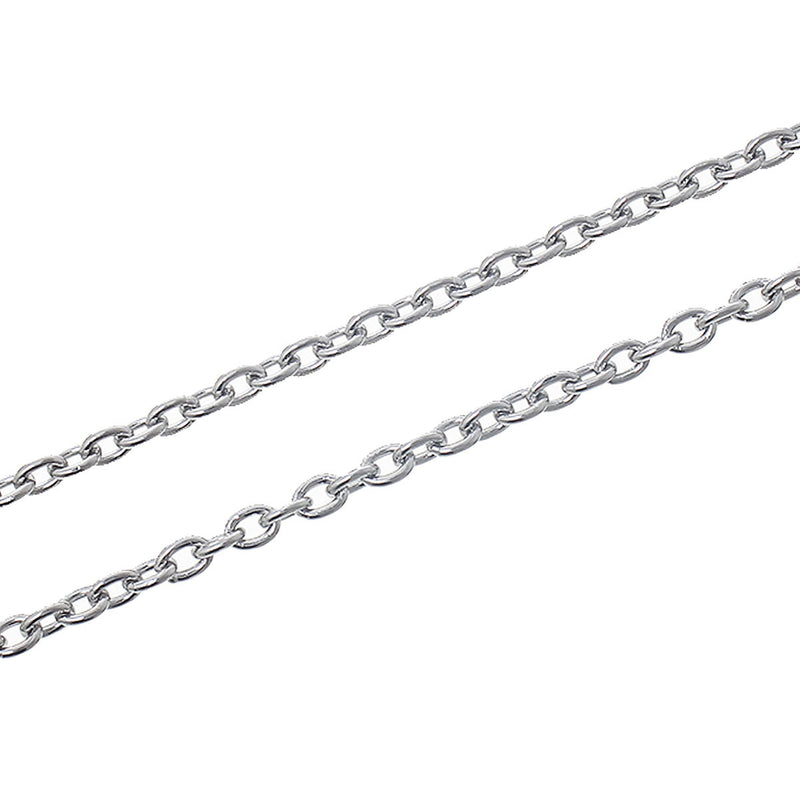 BULK Stainless Steel Cable Chain 6.5ft - 3mm - FD261