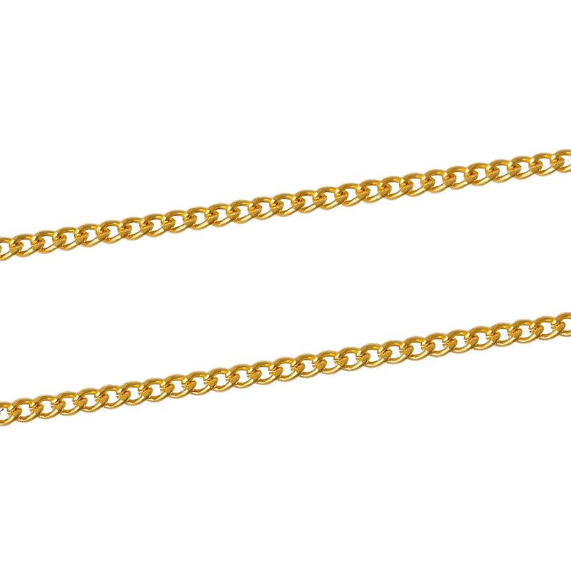 Bulk Gold Tone Curb Chain 32ft - 1.2mm - FD236