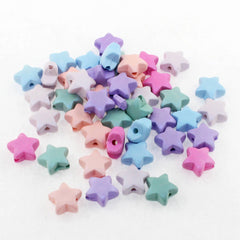 Star Acrylic Beads 11mm - Assorted Pearl Pastels - 20 Beads - BD1382