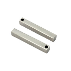 3D Drop Bar Stamping Blank - Stainless Steel - 35mm x 5mm - 1 Bar - FD616