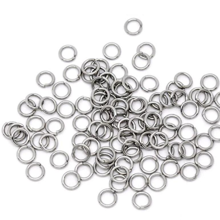 Stainless Steel Jump Rings 6mm x 0.9mm - Open 20 Gauge - 500 Rings - SS006