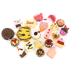 4 Candy Acrylic Charms 3D Assorted - E214