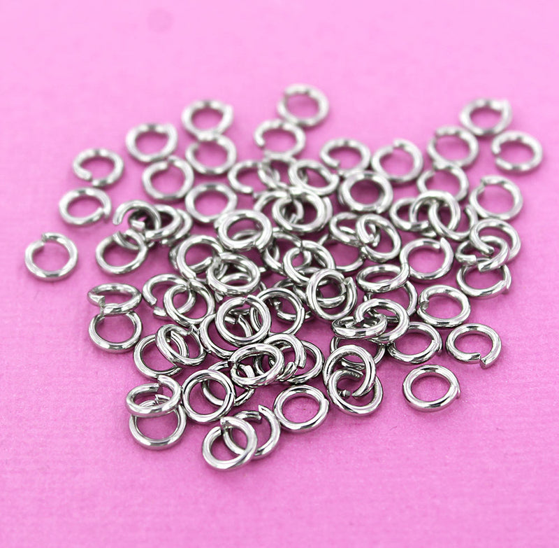 Stainless Steel Jump Rings 6mm x 1.2mm - Open 16 Gauge - 50 Rings - SS029