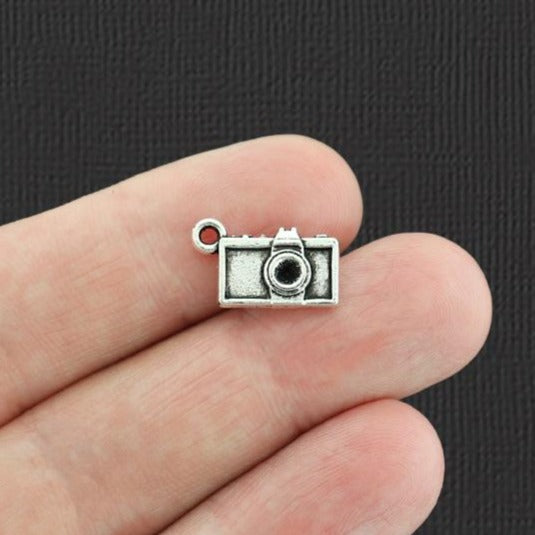 12 Camera Antique Silver Tone Charms - SC2534