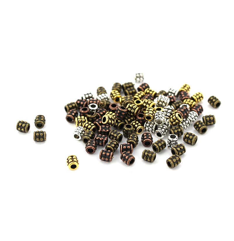 500 Spacer Beads 4mm Antique Copper Tone FD416