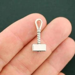 8 Hammer Antique Silver Tone Charms 3D - SC7251