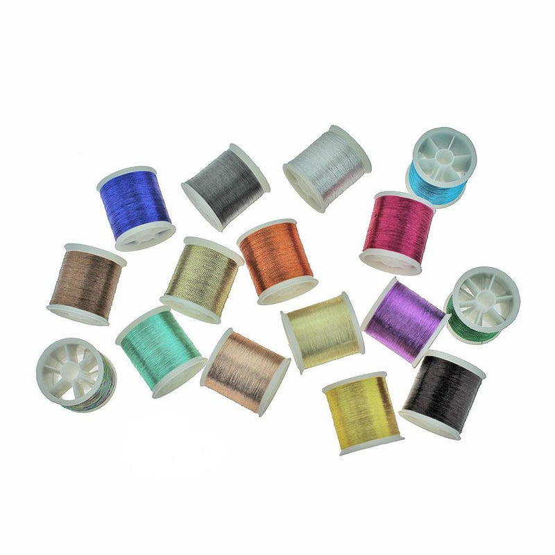 4 Assorted Metallic Thread - Z1540