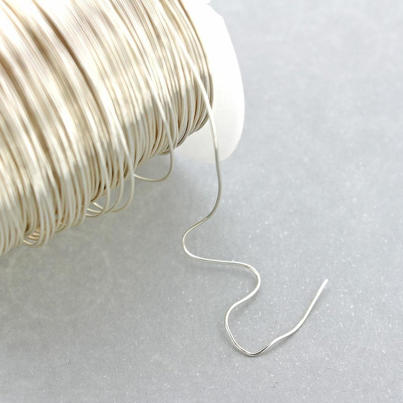 BULK Silver Tone Craft Wire - Tarnish Resistant - 1m or 3.25 ft - 0.5mm - Bulk Pricing Options - Z986