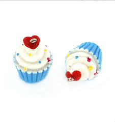 4 Cupcake Resin Charms 3D - K117