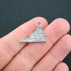 SALE 8 Virginia State Antique Silver Tone Charms - SC4759