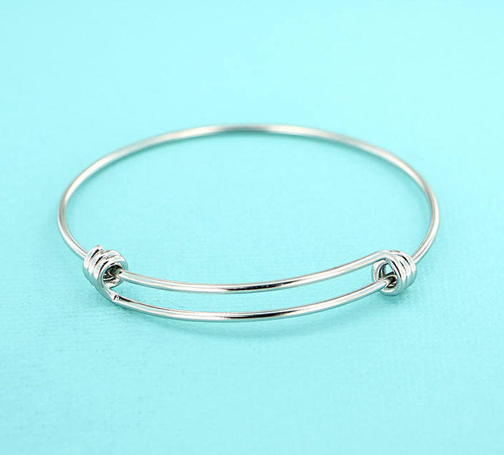 Stainless Steel Adjustable Bangles - 50mm - 5 Bangles - N358