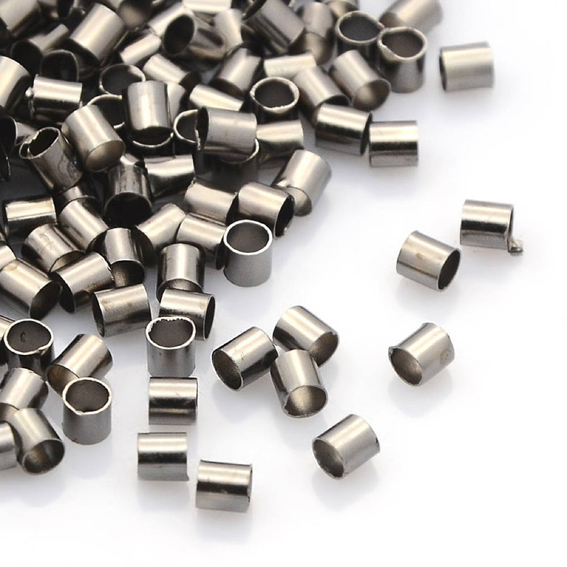 Gunmetal Tone Crimp Bead - 7mm x 4mm - 500 Pieces - FD311