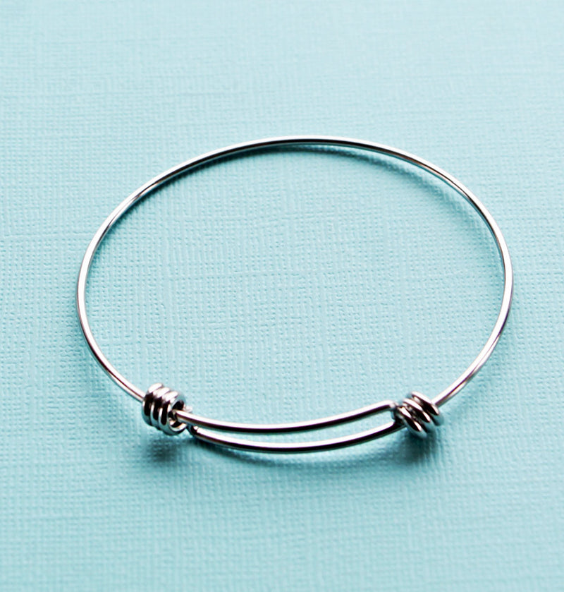 Stainless Steel Adjustable Bangle - 66mm - 5 Bangles - N158