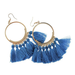 2 Tassel Earrings - French Hook Style - 1 Pair - Z1071